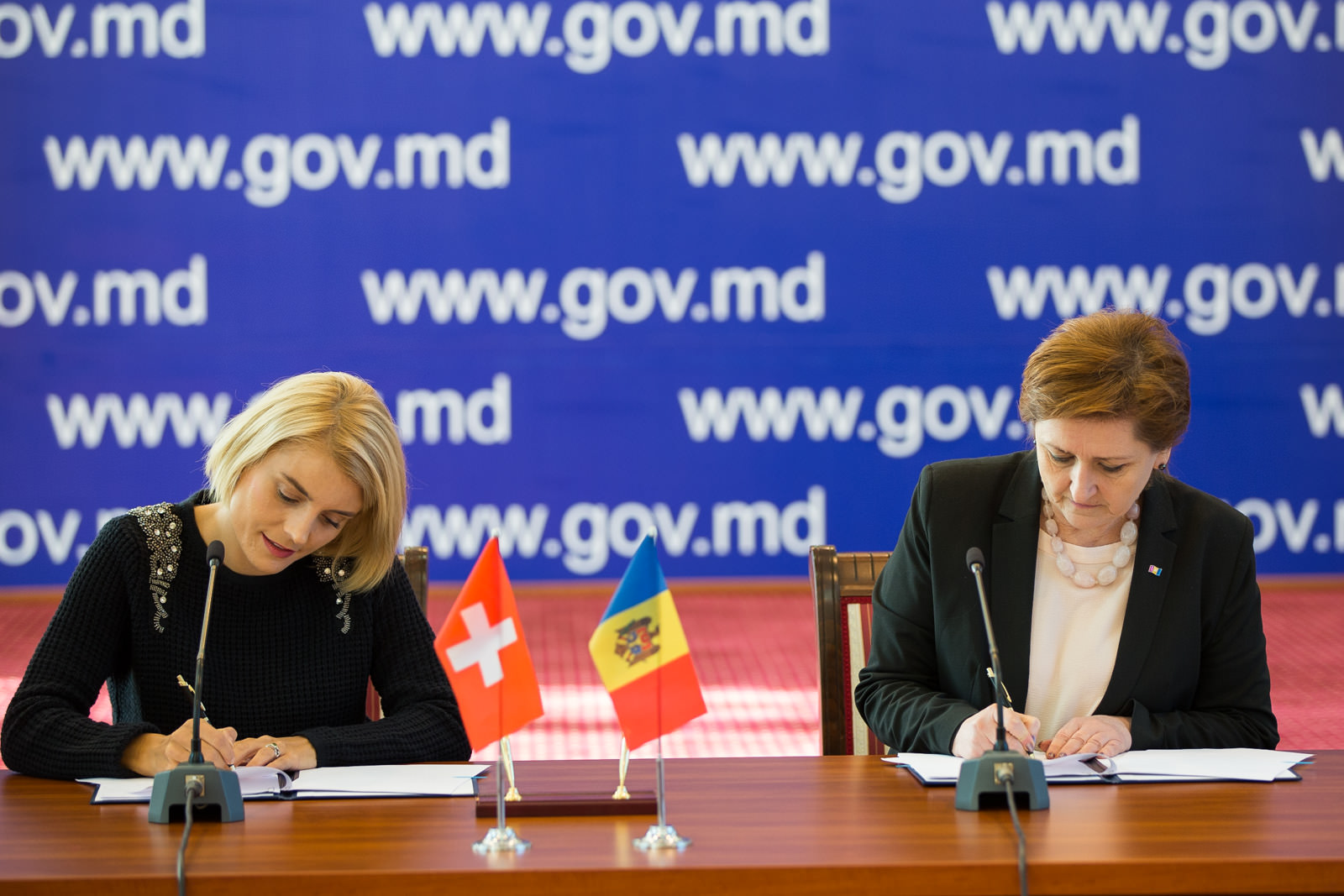 Secretary General Of Government Lilia Palii And Director The Swiss Cooperation Office In Moldova Simone Giger Today Signed An Agreement On Implementation